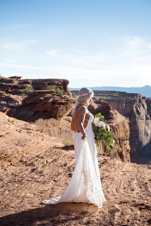 bride adventure elopement Arizona wedding