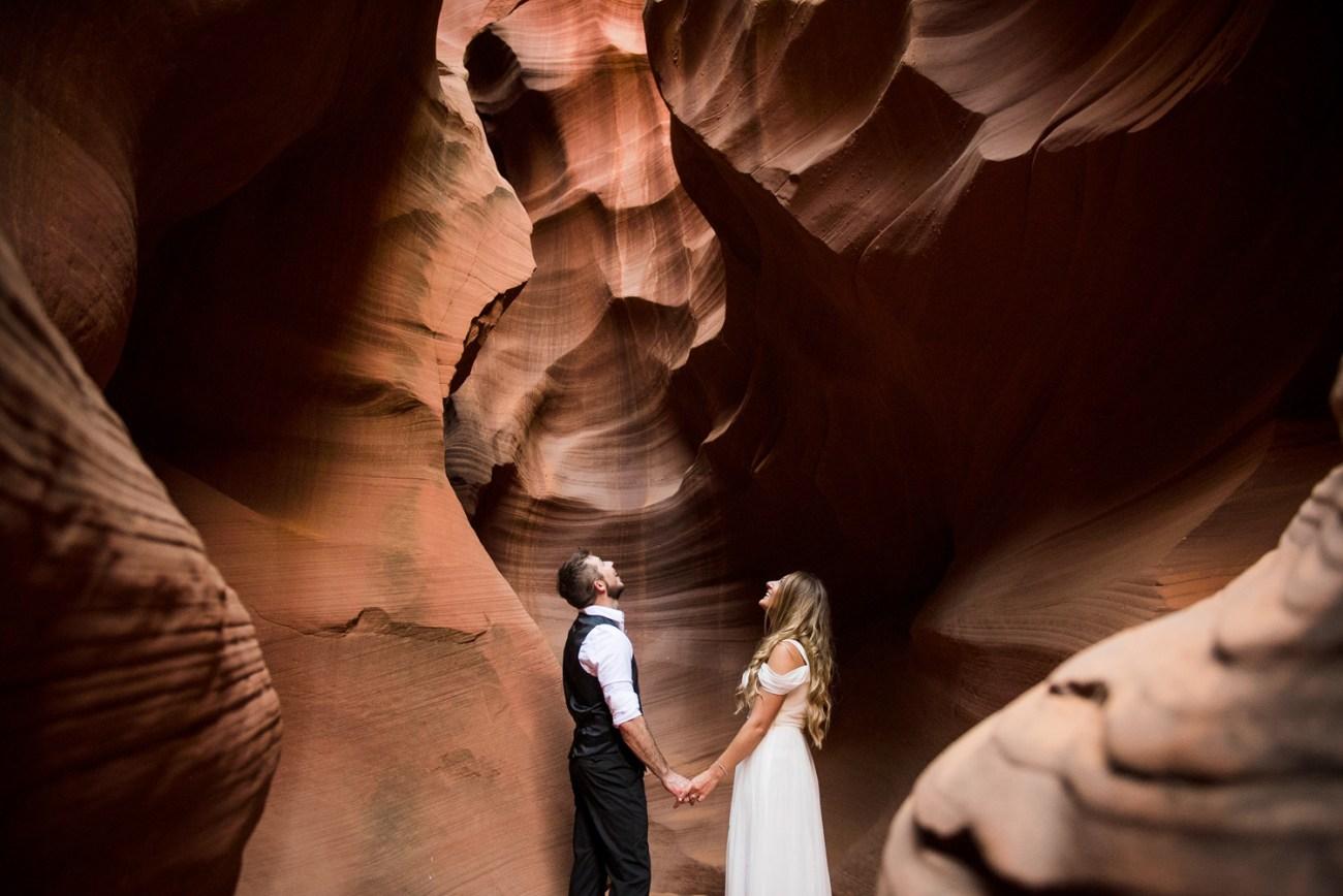 horseshoe bend wedding photographer slot canyon