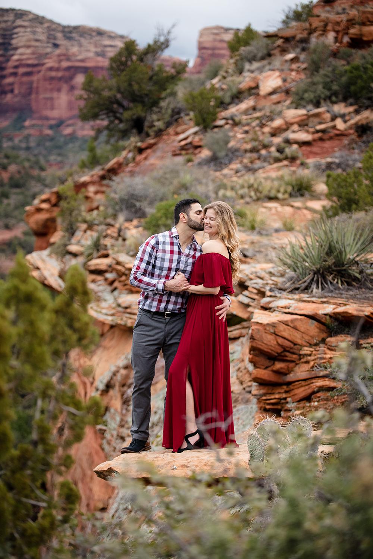 sedona engagement photo session