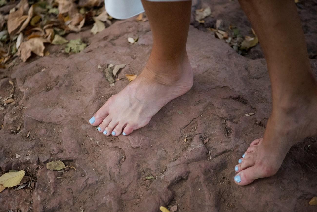 bare feet bride