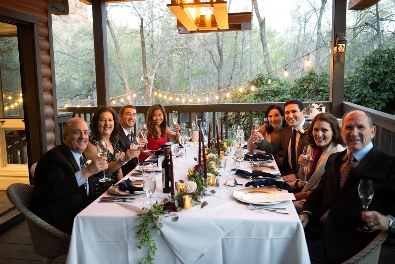 Sedona Intimate wedding dinner
