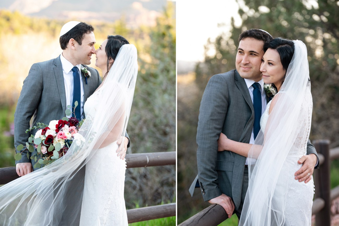 Sedona Jewish wedding couple