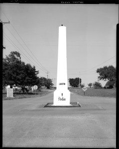 Indian Meridian Marker near Langston, Oklahoma