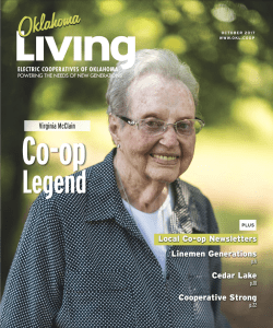 Cover photo of Virginia Mclain for the October 2017 issue of Oklahoma Living Magazine