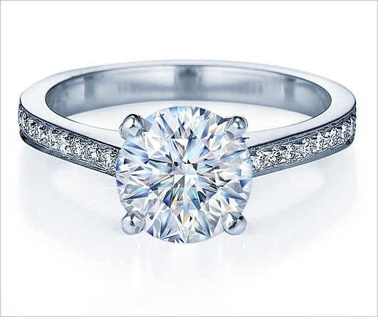Solitaire Ring with Side Stones