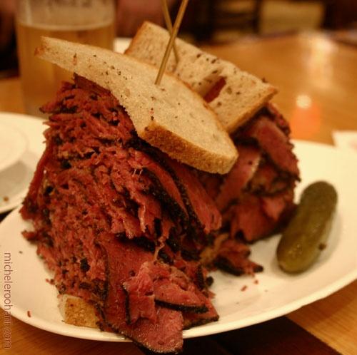 (a Carnegie Deli sandwich)