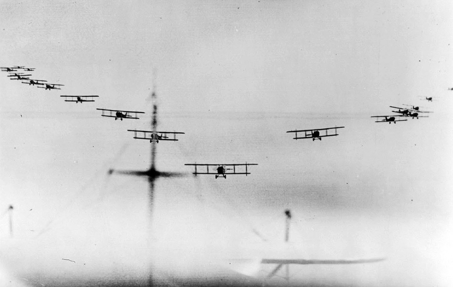 Biplanes WWI via The Atlantic https://www.theatlantic.com/photo/2014/04/world-war-i-in-photos-introduction/507185/