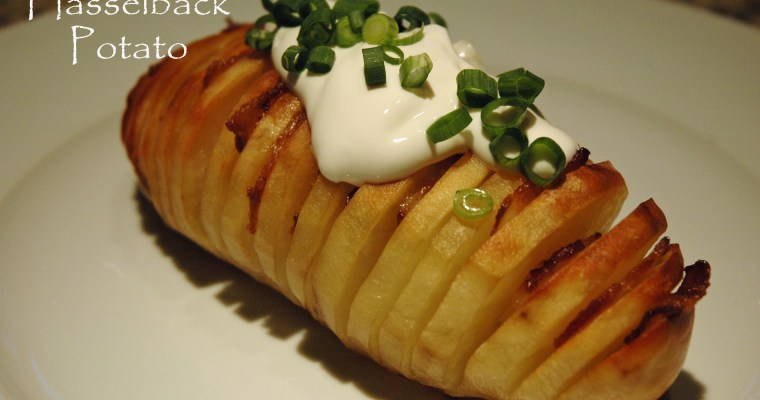 Bacon-Stuffed Hasselback Potatoes