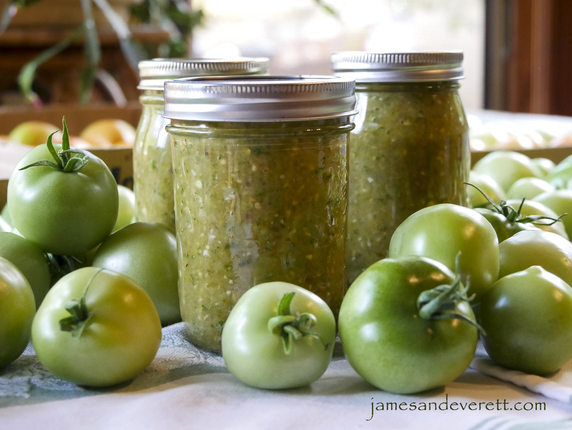 Green Tomato Salsa ~ Salsa Verde