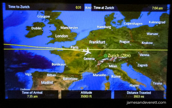 Airplane Seat Back Map