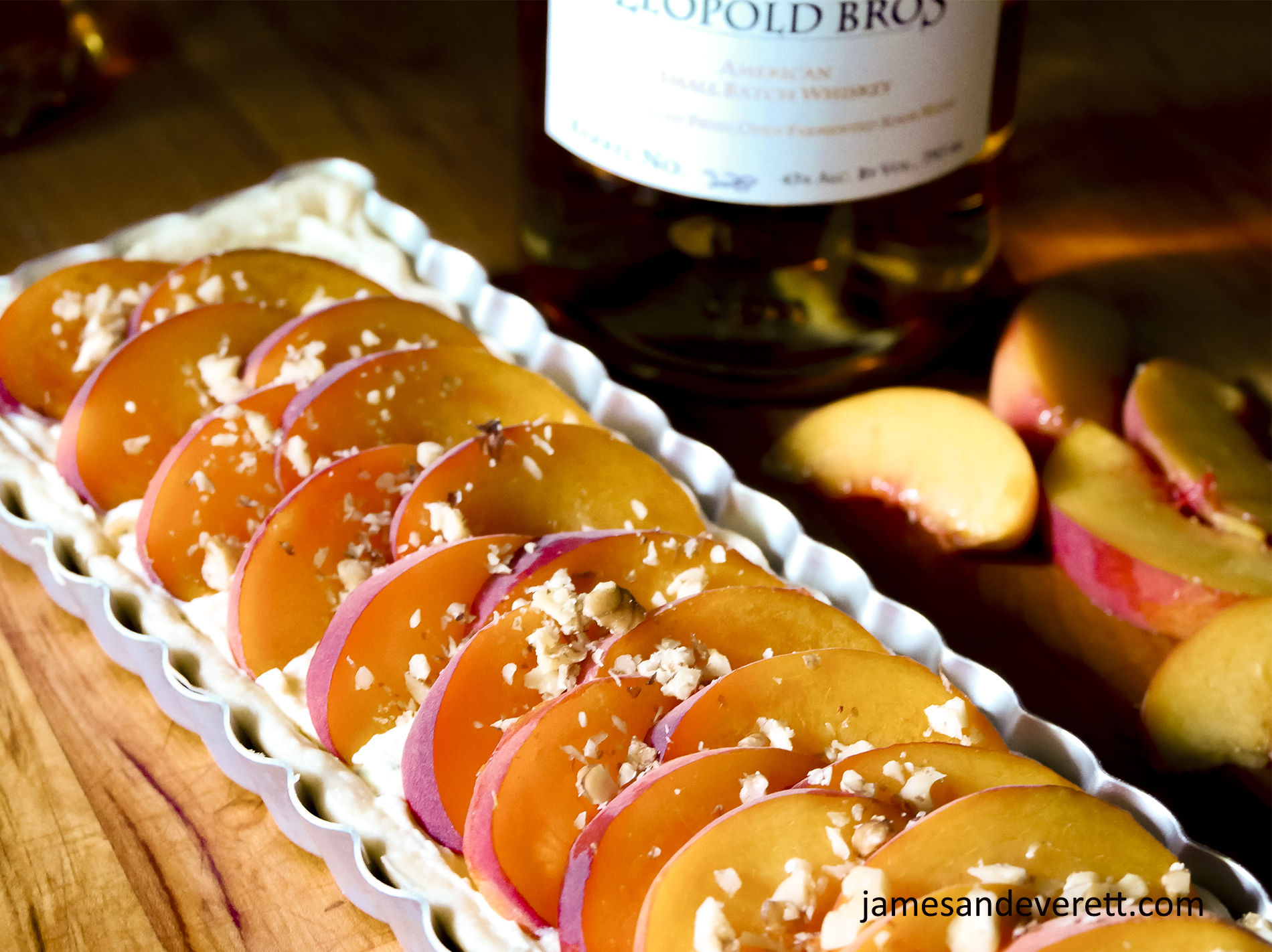 Honey & Whiskey Peach Tart