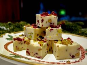 Cranberry Pistachio Dream Fudge