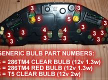 Mercedes Instrument Panel Bulb Replacement and Converting ...