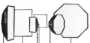 A selection of different types of softboxes
