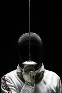 Th Fencer studio portrait
