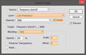 Frequency separation tutorial step 2 16-bit images