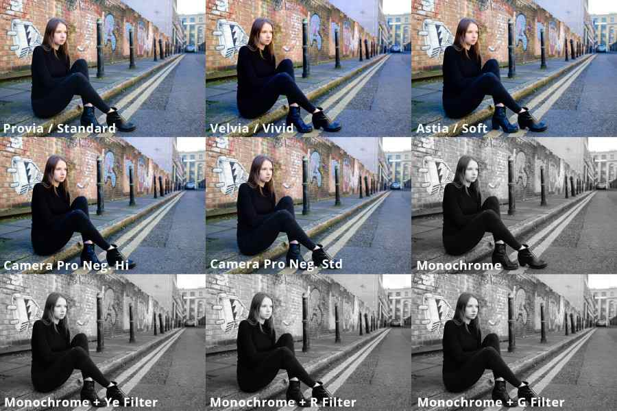 Fujifilm Film Simulation Modes example images