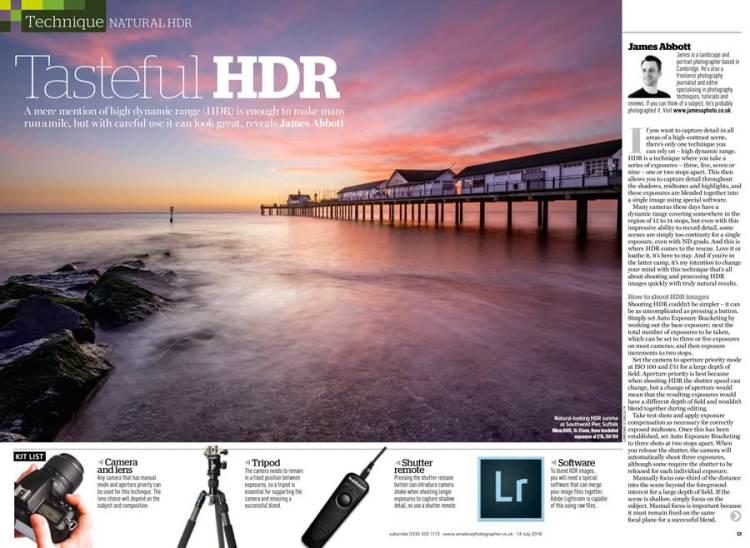 Amateur Photographer Tasteful HDR 14 July 2018