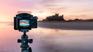 Shooting sunrise at Bamburgh Beach with the Sony FE 20mm f/1.8