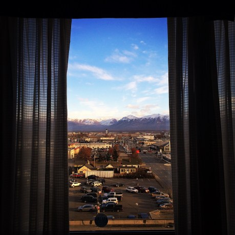 View from a Sheraton window.