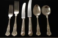 A Silver Plate Flatware Set in the Kings Pattern