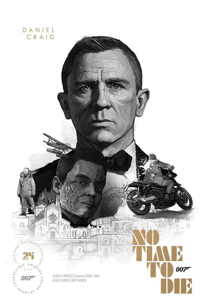 No Time To Die posterwedstrijd finalist 007