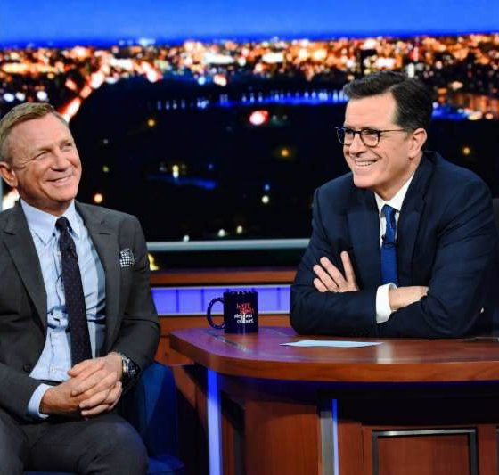 Daniel Craig on the Late Show with Stephen Colbert