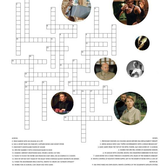 James Bond Crossword