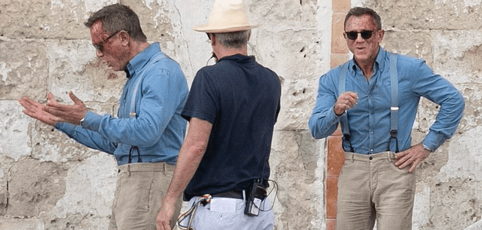 """Primeiras fotos de Daniel Craig no set de """"No Time To Die"""" na Itália"""
