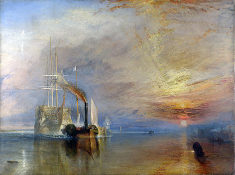 The Fighting Temeraire in SkyFall James Bond