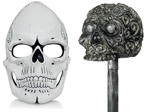 spectre day of dead james bond mask skull cane