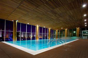 Skyfall Swimming Pool Scene