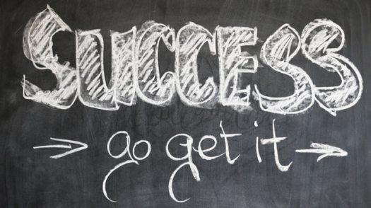 Success - go get it (written on a blackboard)
