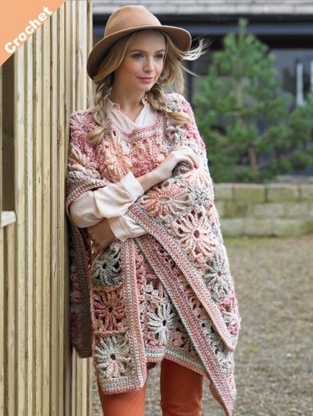 James C. Brett Marble Chunky afghan crochet pattern