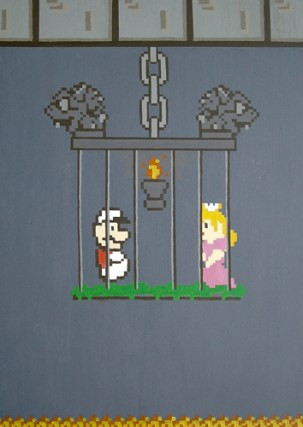 Fire Mario & the Princess (Loves Labors Lost)