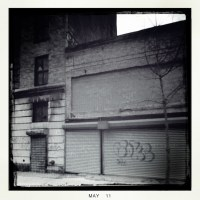 Tags and a Throw-Up, 162nd St., Jamaica, NY (Rephotographed), 2+ ways, 10 times