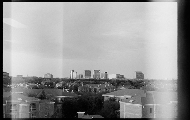 view from the office, with severe light leaks!