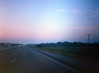 On the road, East Texas, 2017