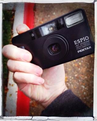 Pentax Espio front panel and lens