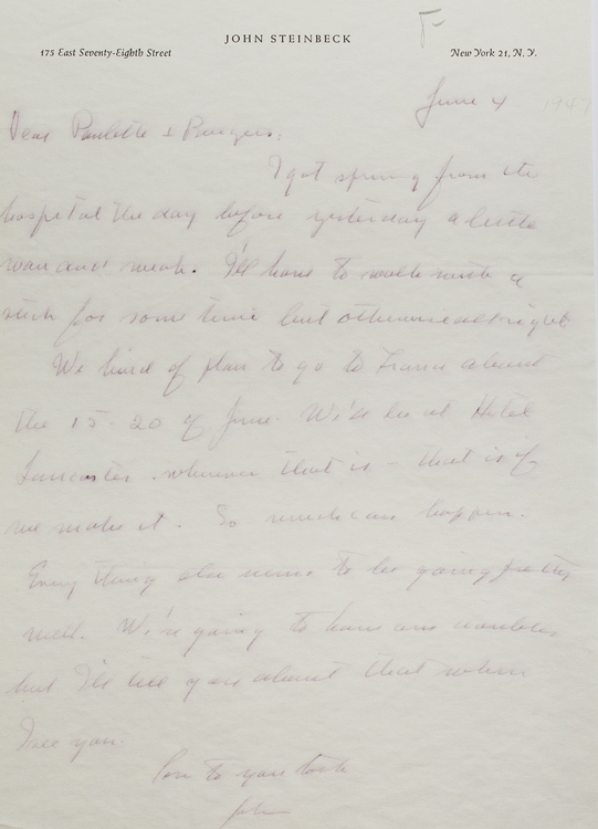 Autograph Letter Signed John to Burgess Meredith and