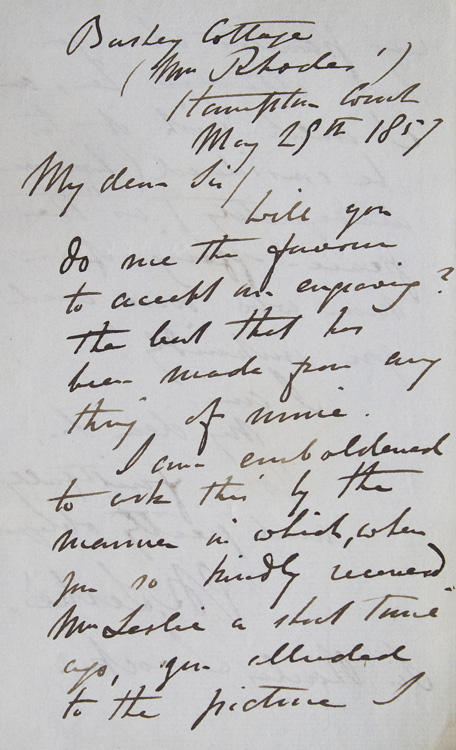 ALS. To Sir Charles Locock, obstretician to Queen Victoria