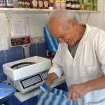 Brahim bagging up the fresh mackerel