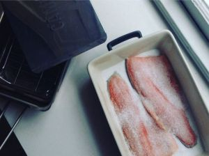 Salted rainbow trout