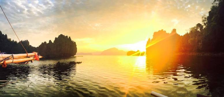 Sunrise over El Nido