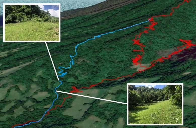 Mt Iraya - Map of start of trail