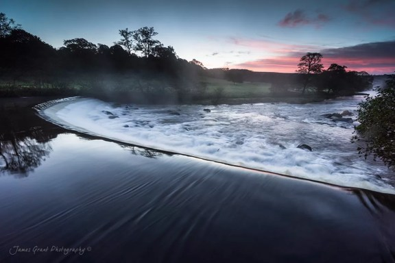 Chatsworth Weir Sunrise - Peak District Photography