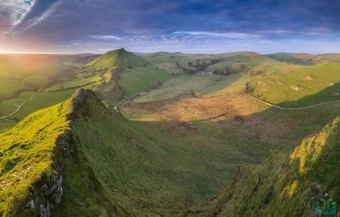 Parkhouse Hill Sunset Panoramic -  Peak District Landscape Photography