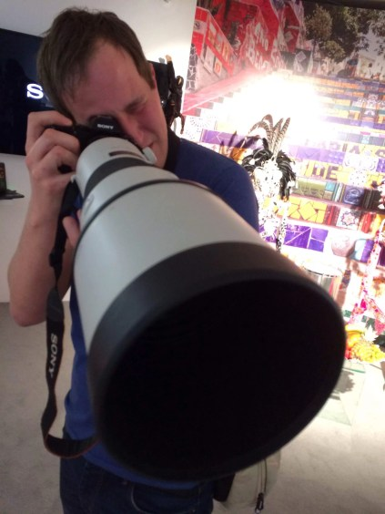 Sony A7R with 500mm lens