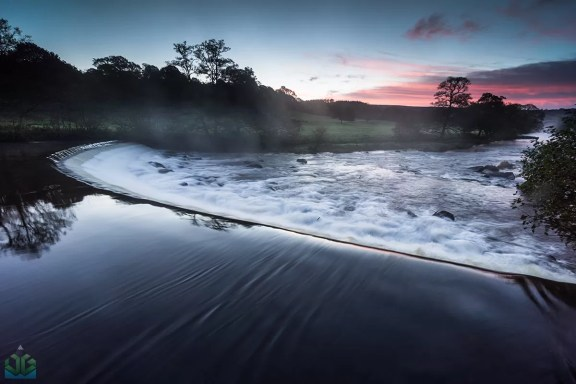 Chatsworth Weir Sunrise - Peak District Landscape Photography