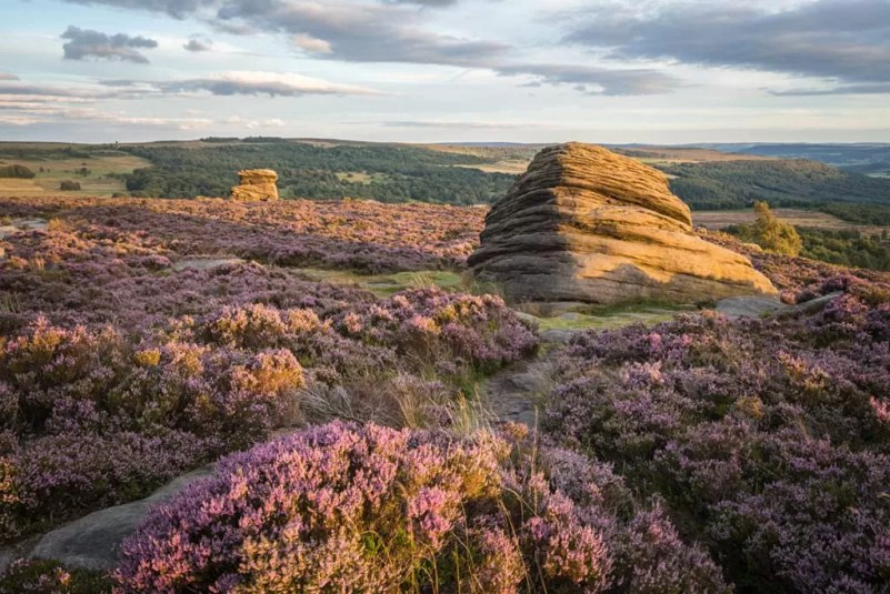 The Beehive and Mother Cap Sunset - Peak District Photography